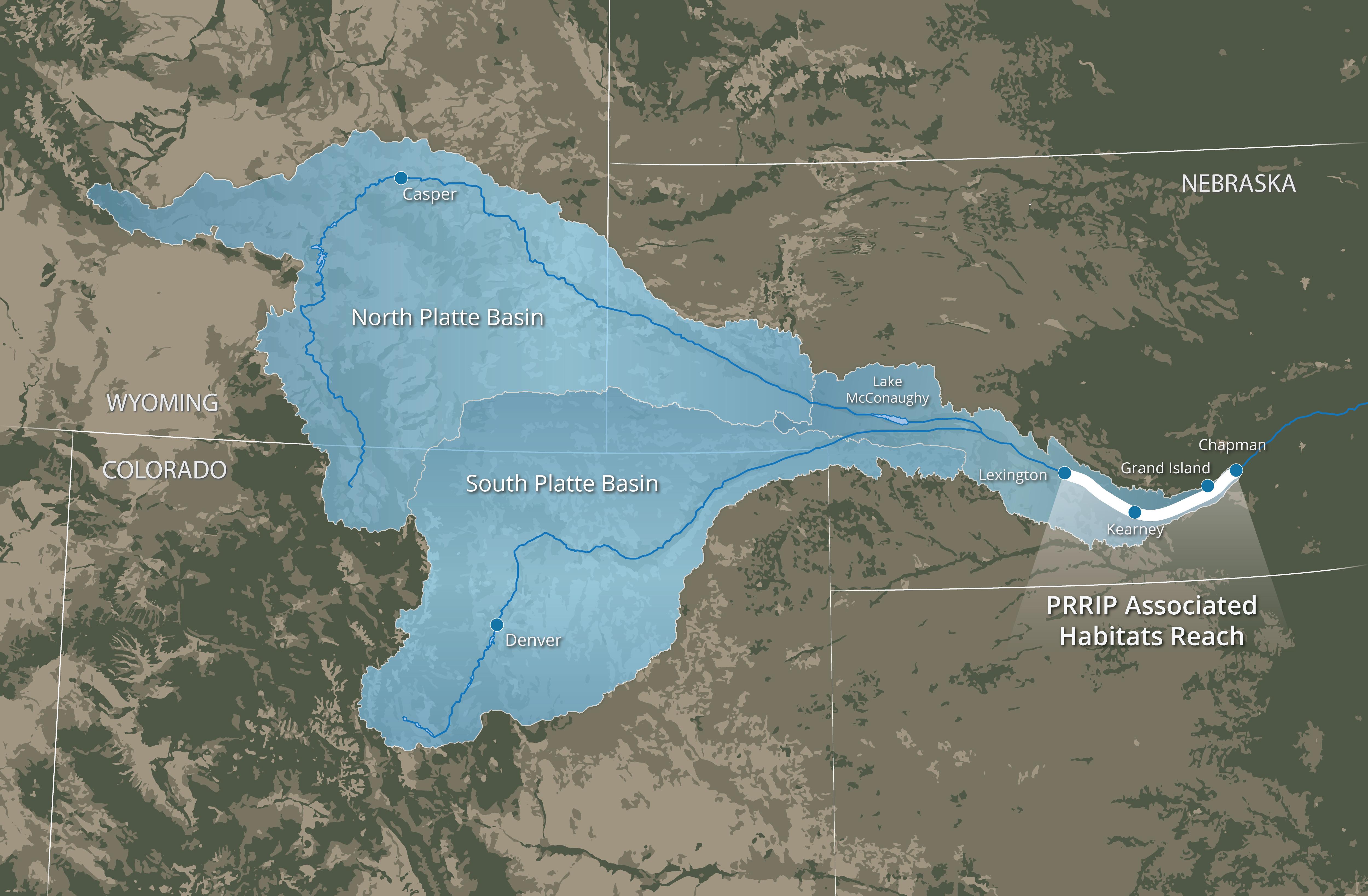 North Platte River Map on
