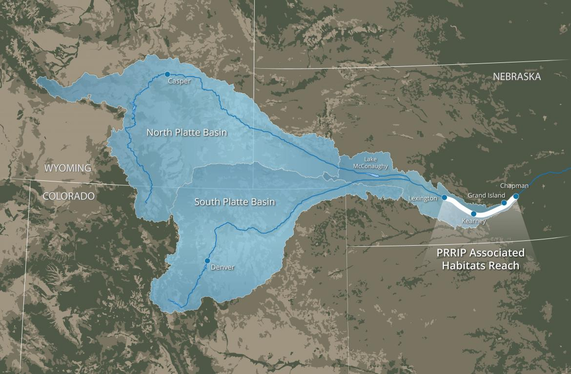 Associated Habitats Reach Map - Platte River Recovery Implementation Program